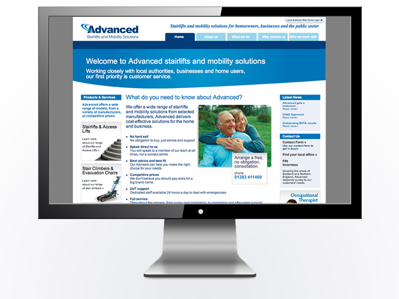 Advanced Mobility Solutions Website*