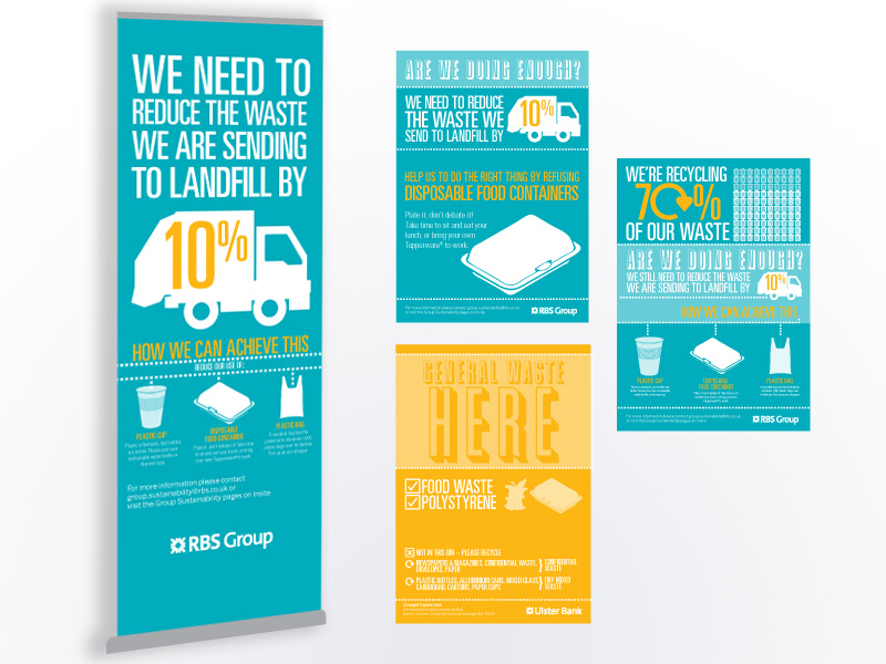 Staff awareness campaign using banner stands and posters