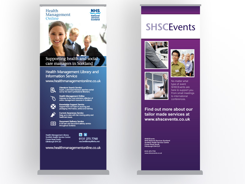 Service offering banner stands