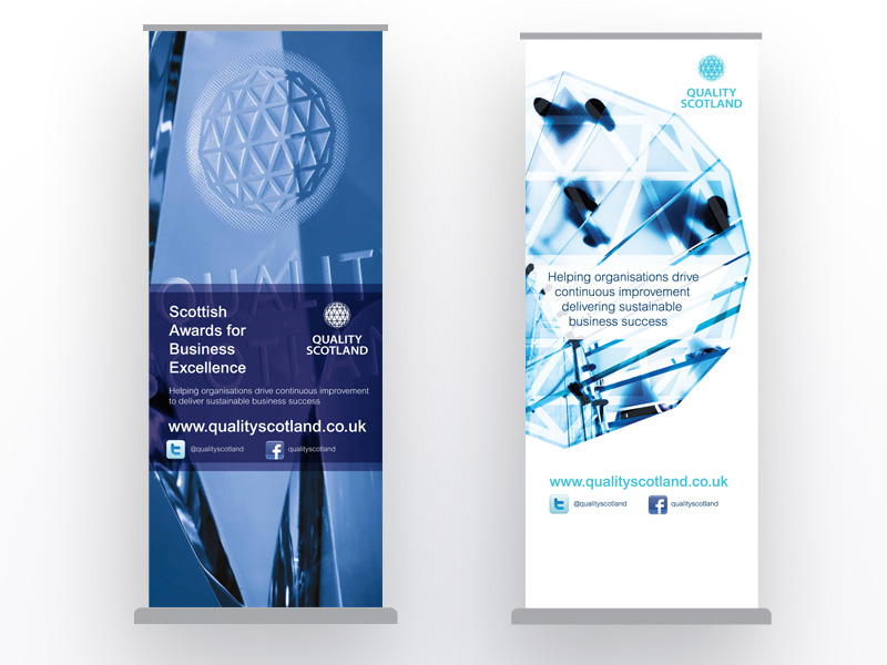 Information and Service Banner stands