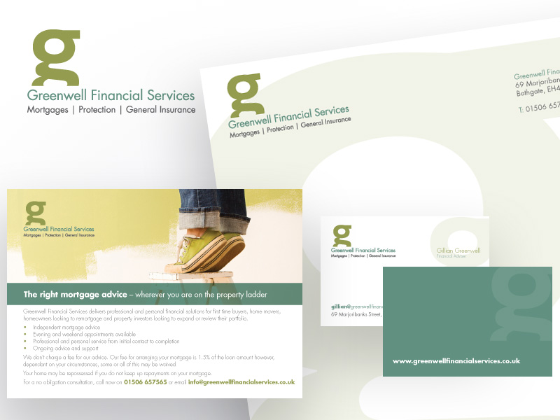 New business logo, stationery and website*