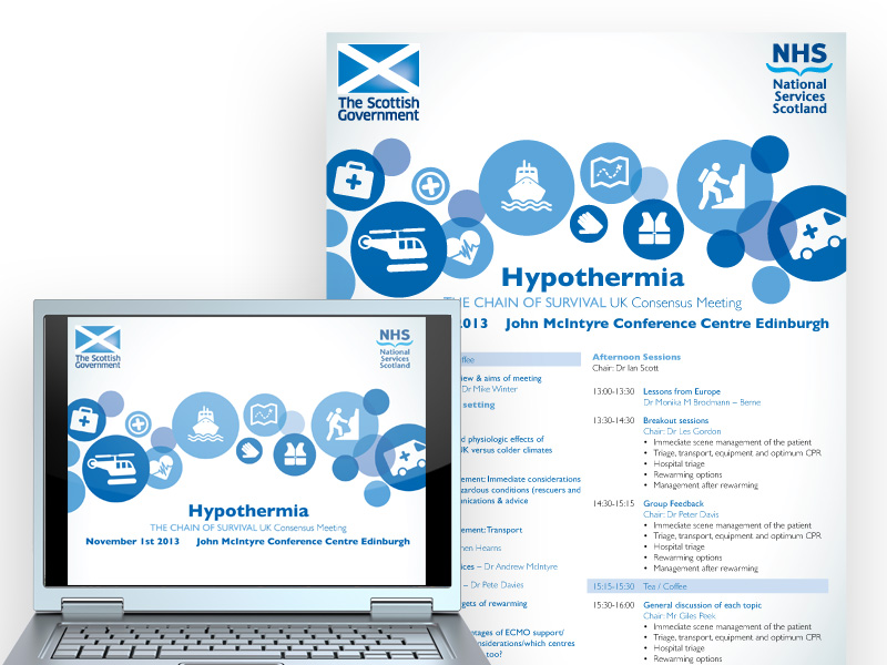 NHS Scotland Conference presentation and event literature