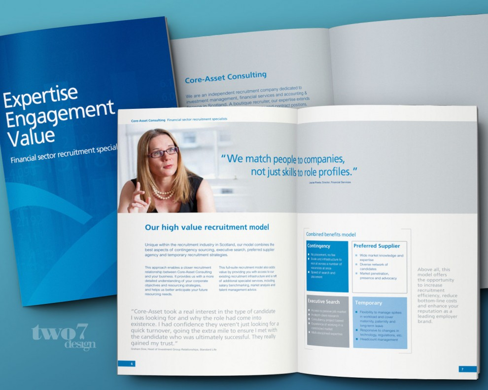 Core-Asset Consulting corporate brochure design and art working