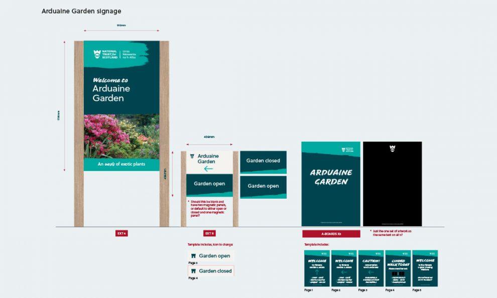 Arduaine Garden signage concepts