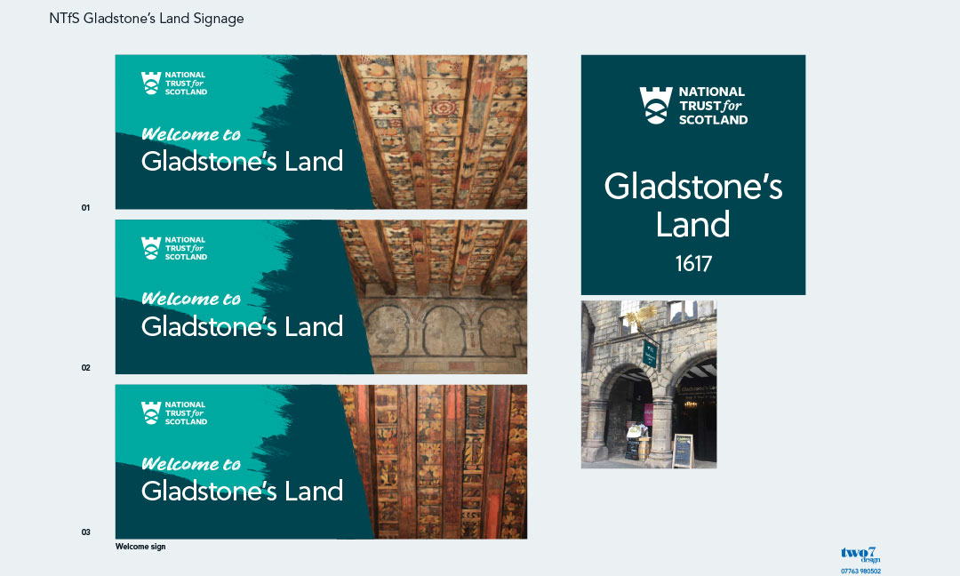 New signage for Gladstone's Land